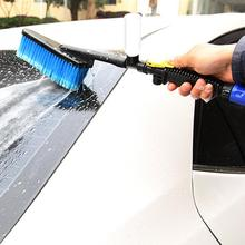 NEW Car Wash Brush Auto Exterior Retractable Long Handle Water Flow Switch Foam Bottle Car Cleaning Brush(China)