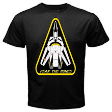 Robotech macross fear the bones classic japan movie T-Shirt Black Basic Tee(China)