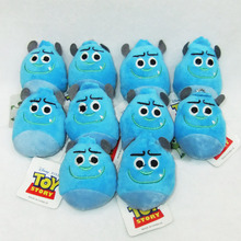 10pcs/lot Toy Story Plush Kawaii Blue Strawberry Bear Soft Toys Toy Story 3 Lotso Plush Dolls Bag Pendants 8CM Free Shipping
