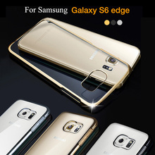 New Luxury Clear For Samsung Galaxy S6 Edge Case 5.1'' Transparent hard phone case cover for samsung S6 Edge coque accessories