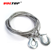 VOLTOP 4M 5T Tow Rope Strap Night Reflective Tape Trailer Towing Rope Auto Emergency Helper 8mm Steel Wire High Strength Hooks(China)