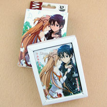 Hot Sell 10 pcs/lot Naruto,Fairy Tail,Death Note,Sword Art Online,Hatsune Miku,BLEACH, Anime Poker toys Free Shipping