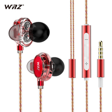 WRZ X7 double moving coil unit HIFI music DIY movement headset in-ear heavy bass phone earplugs type