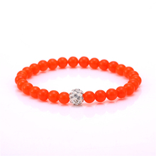 Julie Jewelry Red Natural Stone One Direction With White Disco Ball Bracelets   Bangles  For Girl Gift 5 Styles Jewelry Pulseras