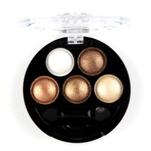 2016 Professional Pigment Eyeshadow 5 Colors Eye Shadow Powder Metallic Shimmer Warm Color makeup Set NXH01286(China)