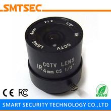 "SMTSEC SL-4012F 4.0mm F1.2 1/3"" CS Mount Fixed Iris Lens for CCTV Surveillance IP Camera"