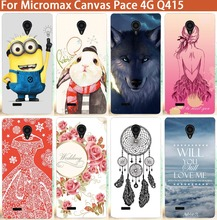 "Fashion Rabbit Wolf Perfect Design Soft TPU Case For Micromax Canvas Pace 4G Q415 4.5"" Silicone Cover Cases For Micromax Q415"