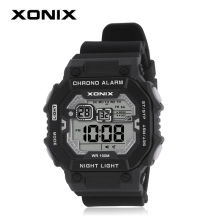 XONIX 100M Depth Waterproof Diving Watch Mens Outdoor Fashion Sports LED Watches Multifunction Digital Watch Swimming Wristwatch