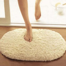 30*50 CM Plush Velvet Non-slip Bedroom Floor Soft Plush Shaggy Mat Bath Bathroom Plain Foam Rug Cleaned Bath Mat