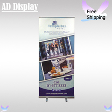 Wholesale 85*200cm Budget Economical Trade Show Advertising Roll Up Banner Stand With Vinyl Fabric Your Own Design Printing