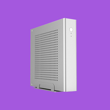 ICELEMON Mini Tower Full Aluminum Case Supports 170*170(mm) thin mini ITX Motherboard, 1*2.5' HDD/SSD Mini PC case desktop(China)