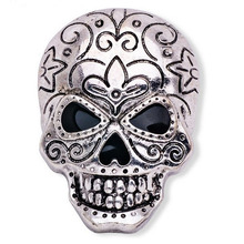 2016 New Fashion Ancient Gold Silver Personality Buckle Pin Brooches Upscale Men's Skull Brooch Halloween Skull Brooch(China)