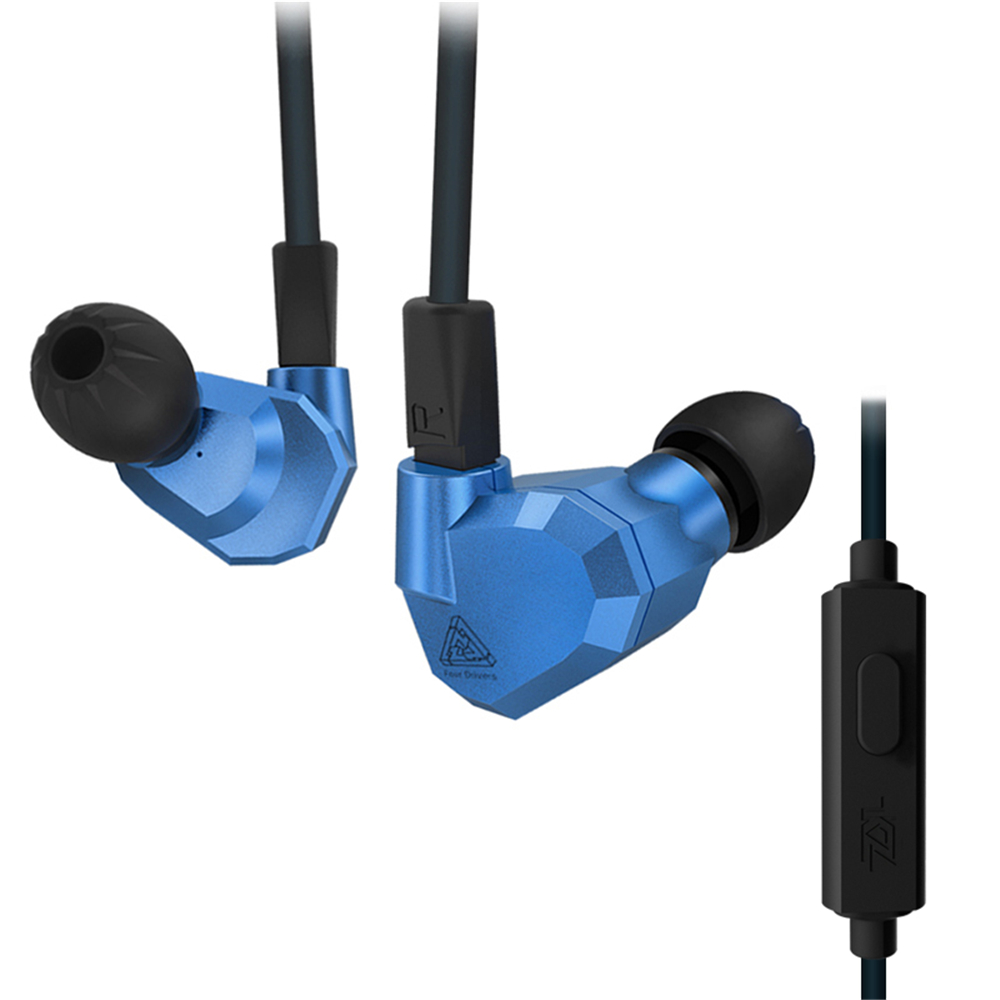KZ ZS5 In Ear Earphone Double Hybrid Dynamic + Balanced Armature Sport Headphone Four Driver Noise Isolating HiFi Music Earbuds<br>