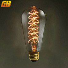 [MingBen] Vintage Edison Bulbs E27 220V Christmas Tree Incandescent Bulbs 40W ST64 Filament Retro Edison Light For Pendant Lamp