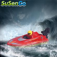 SuSenGo Remote Control Boat RC RTR Electric Ship Flying Speed Boat Racing Toy Mini Micro 953 Radio Surfing Ship Boat