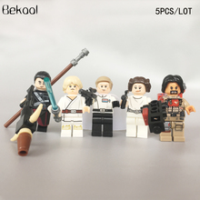 NEW 5PCS/LOT Star Wars Rogue One Leia Baze Malbus Chirrut Imwe Director Krennic LUKE Figs building block kid toys