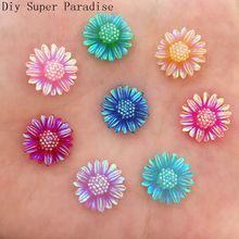 Buy Scrapbook 30pcs 12mm AB Resin Butterfly Flower FlatBack Stone Wedding Embellishment Diy Craft K63 for $1.88 in AliExpress store