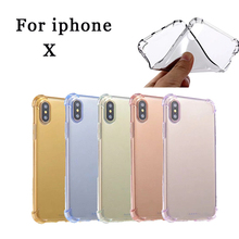 For iPhone X Case Protected Crystal Ultra Clear Soft TPU Cover for Futural Digital jiu13