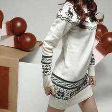 Deer Printing Knitted Pullovers Christmas Costumes Burderry Women Cute Animal Design Outerwear Ladies Gift Sweaters