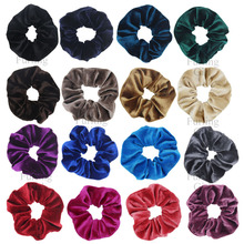 1pc Velvet Scrunchie Ponytail Holder Scrunchies Pelo Pony Tail Wrap Hair Ties Gift for Her(China)