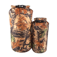 Outdoor 2 Pieces 15L & 8L Camo Waterproof Dry Sack Bag Travel Camping Climbing Hiking Kayak Canoe Inflatable Boat Accessory