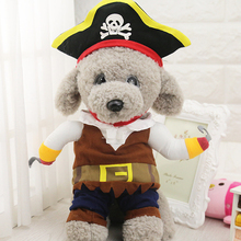 Funny Cute Pet Dog Clothes Suit Pirate Turned Put Cat Suit Small Medium Dog products for cats Pet Dress Toy Cosplay Perform Toys