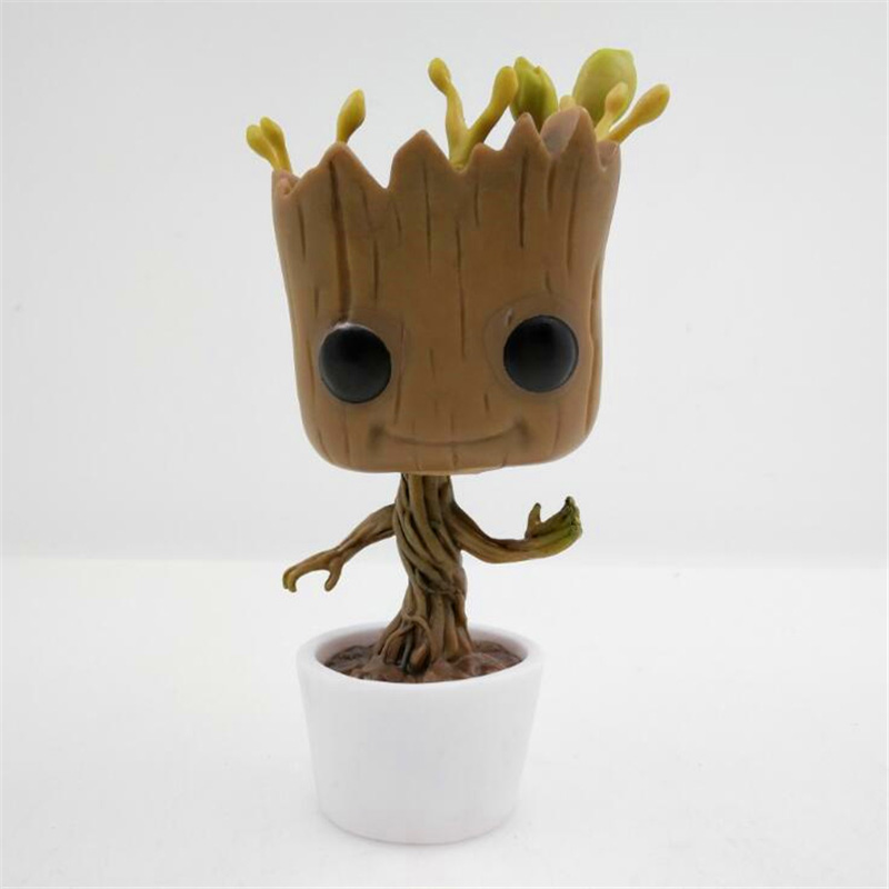 2017 new arrived J.G Chen Genuine Brand Funko POP Guardians Of The Galaxy Toy Figure DANCING GROOT Bobble Head/Marvel Groot 10CM<br><br>Aliexpress