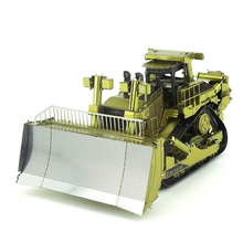 Colorized crawler dozer truck model kit laser cutting 3D puzzle DIY metal car model jigsaw best gifts for kids educational toys