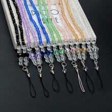 Luxury Crystal Mobile Phone Strap Neck Lanyard for Phones Keys ID Card Fashion Bling Rhinestone Charm Cords Hang Rope Universal