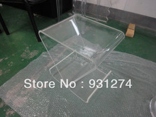 Clear Acrylic coffee tea table with magazine rack,Perspex small sofa  tables