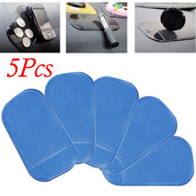 5PCS Automobile Anti Slip Car Sticky Anti-Slip Mat For Mobile Phone/Mp3/Mp4/GPS/Pad/Car Doll Interior Accessories