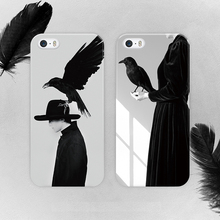 2016 Attractive Black Eagle For Iphone 6 Case Fashionable Black Background For Apple Iphone 6s Cases