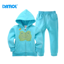 1T-5T Polyester Fleece Baby Clothes Sets Thick Kids Boy Girl Hoodies Outdoor Playing Sports Wear Coat Keep Warm Clothing DR0122