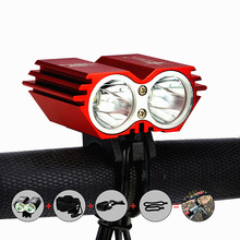 Solar Storm X2 5000Lumen XM-L U2 LED Bicycle Bike Headlight Head Lamp Waterpoof front Light + 6400mah Battery Pack + Charger