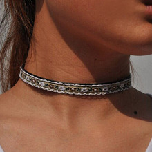 6 Styles Fashion Bohemian Choker Necklace knitting Embroidery Pattern Necklace Women Girl Party Short Fine Collar Jewelry