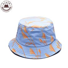 New arrival high quality unisex Panama hat polo bucket hat for women Cotton reed printed pink bucket hat summer sun hat