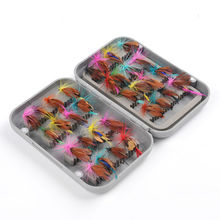 Fiblink 32pcs Fly Fishing Flies Set Butterfly Like Floating Fishing Lure(China)