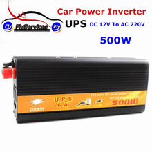 UPS Inversor DC12v To AC 220V DOXIN Car Power Inverter 500W Universal Uninterrupted Power Supply Auto Charge