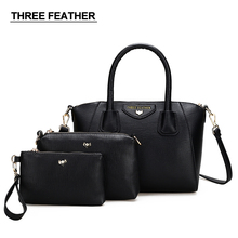THREE FEATHER Brand Women Bag Candy handbag High quality shell bags Ladies classic Inclined shoulder bag Female composite bags