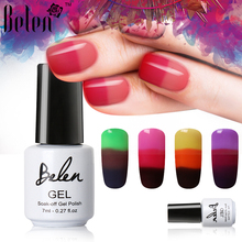 Belen 7ml Gel varnish Nail Gel Polish Color Changing Chameleon Temperature Nail Polish Thermal Color Change UV Gel Lacquer Gel(China)