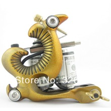 One 10 Wrap Coils Aluminum Alloy Frame Tattoo Machine Gun For Kit Set Supply DTM01-D