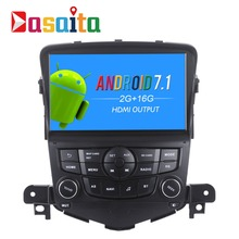 "Dasaita 8"" Android 7.1 Car GPS Player Navi for Chevrolet Cruze 2008-2011 with 2G+16G Quad Core Auto Stereo Radio Multimedia HDMI(China)"