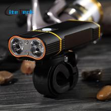 Super Bright Bicycle Light USB Rechargeable 800 Lumens Headlight Front Light Easy Installation Cycling Flashlight(China)