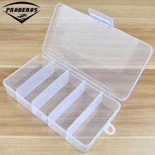 High Strength Transparent Plastic Fishing Tackle Box 5 Compartment Fishing Accessories 19*10*3.5cm Storage Box(Hong Kong)