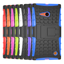 New Armor hard shell For Microsoft Nokia Lumia 730 Phone Case Shock Proof Rugged Heavy Armor Phone case For Nokia 730 Phone case
