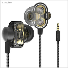 Original Hifi Bass S1 Dual Driver System Speakers HIFI Bass Subwoofer In Ear Earphone Earbud Stereo Monitor Earbuds With Mic
