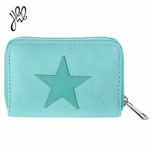 2017 Fashion  Women Wallets Luxury Brand PU Leather Lovely Star Short Wallet Adorable Card Holder Coin Purse Sweet Gift 500609