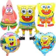 1pcs/lot Sponge Bob Foil Balloons Inflatable Animal Red Feet Patrick Star Birthday Party Supplies Classic Cartoon balls