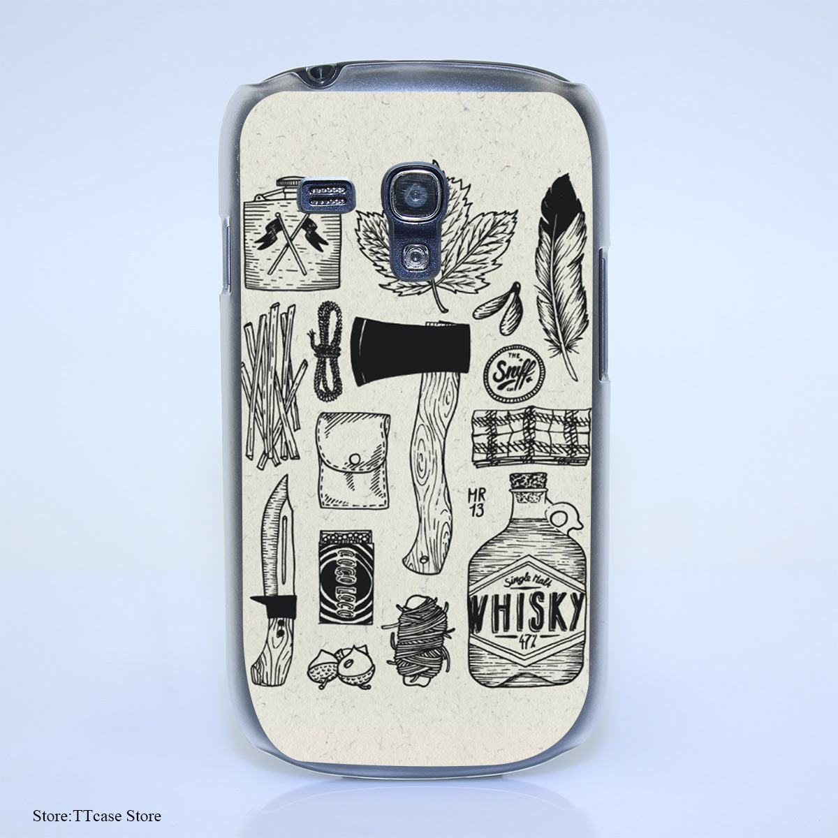 3251G Survive Hgu Print Hard Transparent font b Case b font Cover for Galaxy S3 S4