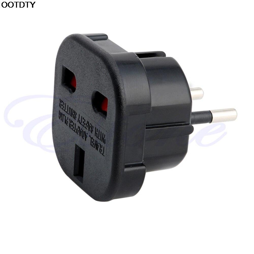 Arrival for UK to EU 2 Pin Euro Europe AC Travel Power Adaptor Plug Socket Adapter Convertor - L060 New hot